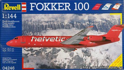 Инструкция к модели Fokker 100 от Revell.  Самолет не столь популярный в нашей стране как лайнеры Boeing или Airbus...